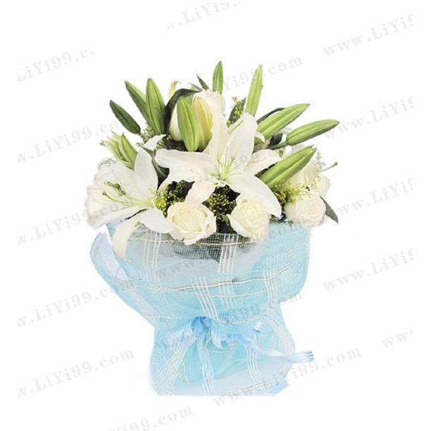 百合包装花束一束