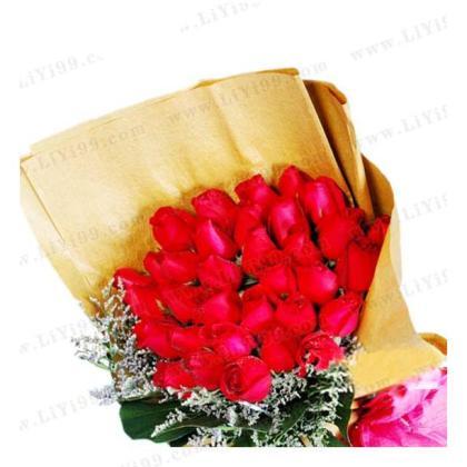 知心爱人红玫瑰花束包装一束