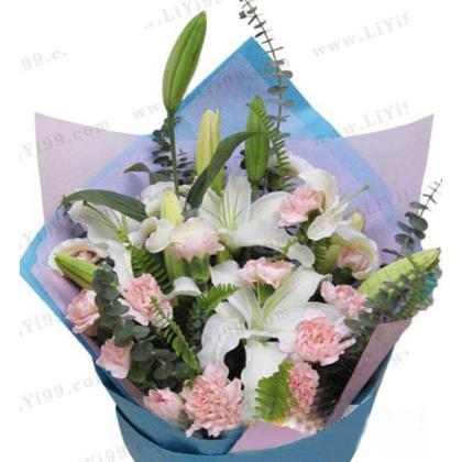 鲜花包装花束一束
