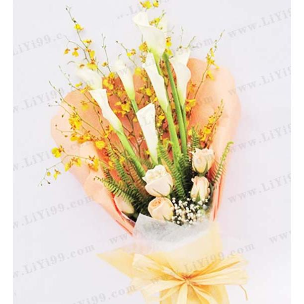 马蹄莲鲜花花束一束 女领导礼品 拜访礼品 感谢送礼