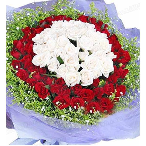 99枝鲜花花束一束 结婚纪念日礼物