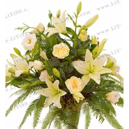 百合鲜花花束一束 送女士礼物