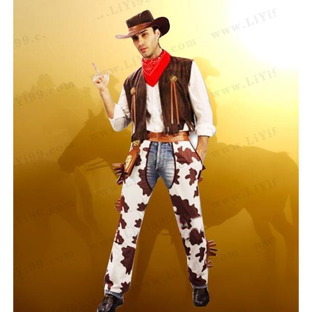 帅气西部牛仔(男) 西部牛仔(男款)服装一套