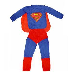 超人服装一套(披风 衣服和裤子)