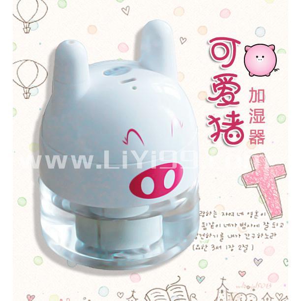 可爱的小猪加湿器一个