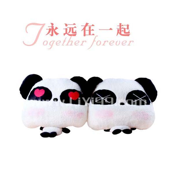可爱小熊猫抱枕一对