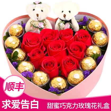 宝贝,生日快乐(玫瑰+巧克力)