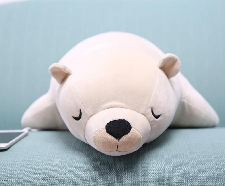 七夕送女朋友什么礼物 可爱北极熊海豹音乐枕一个